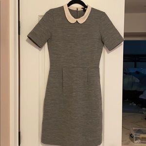 J Crew wool dress with Peter Pan collar